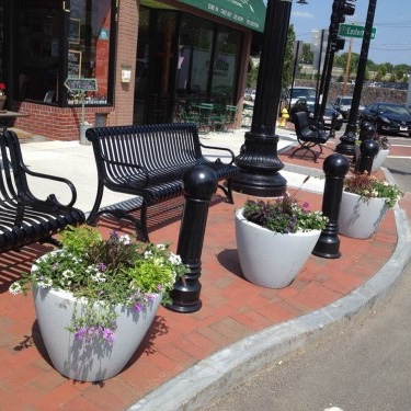 Expand and beautify sidewalks and public spaces