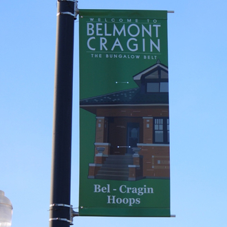 Install new banners along commercial corridors