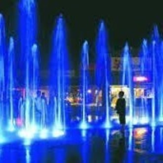 Giant Splash-Pad Lit Fountain/Ice Skating Rink