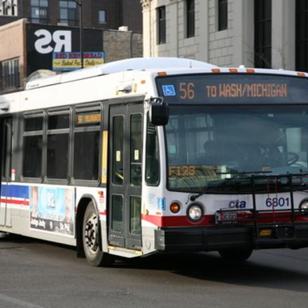 Large cta bus line 56