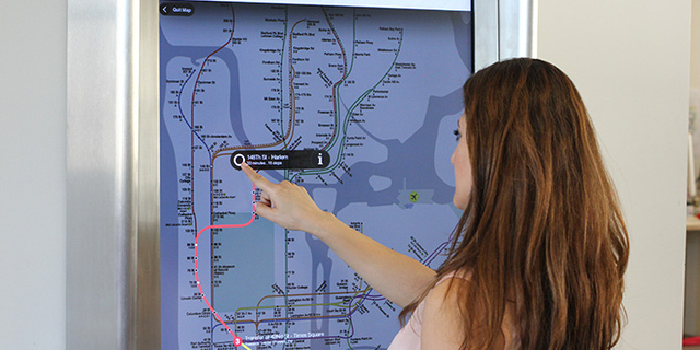 Touchscreen COTA maps for tourists