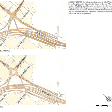 Large reconfigure the intersection at knoxville   pennsylvania avenues
