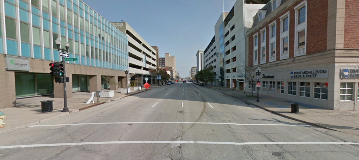 Reconfigure Adams Street for Two-way Traffic with On-street Parking