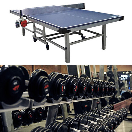 Large ping pong free weights