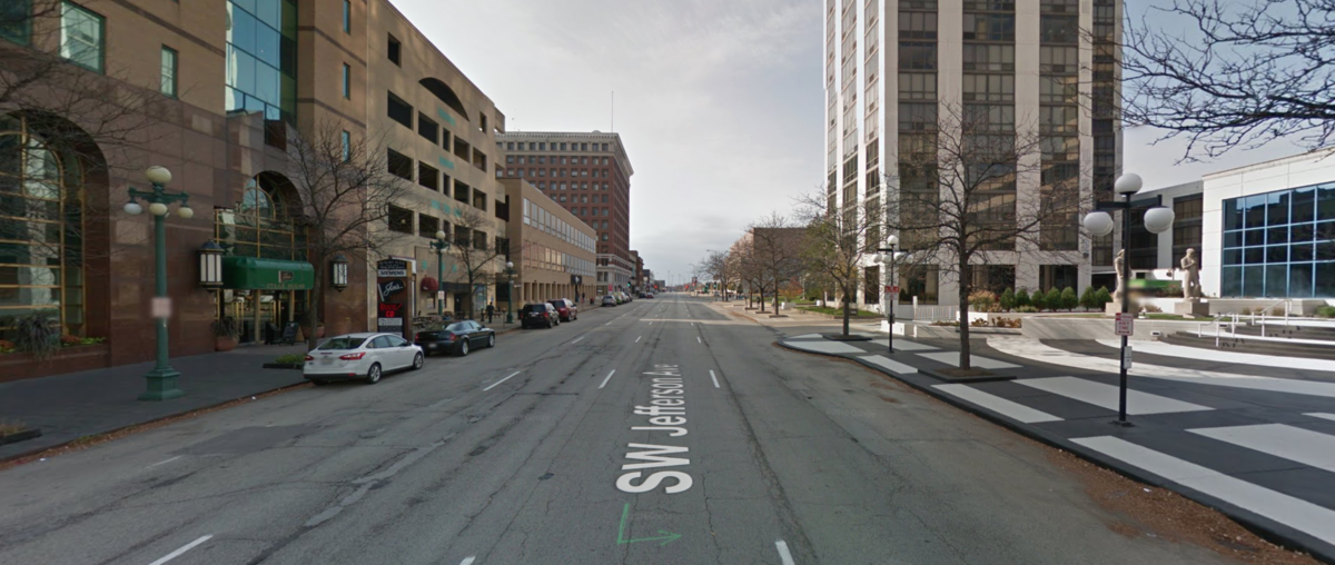 Reconfigure Jefferson Street for Two-way Traffic with On-street Parking