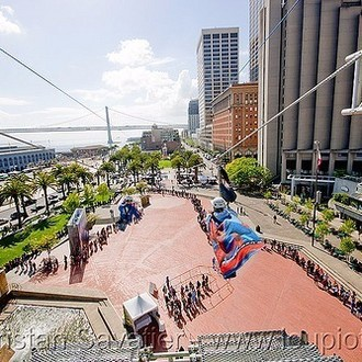 Light up the 74 bridge and have a one of a kind zip line for summer fun.
