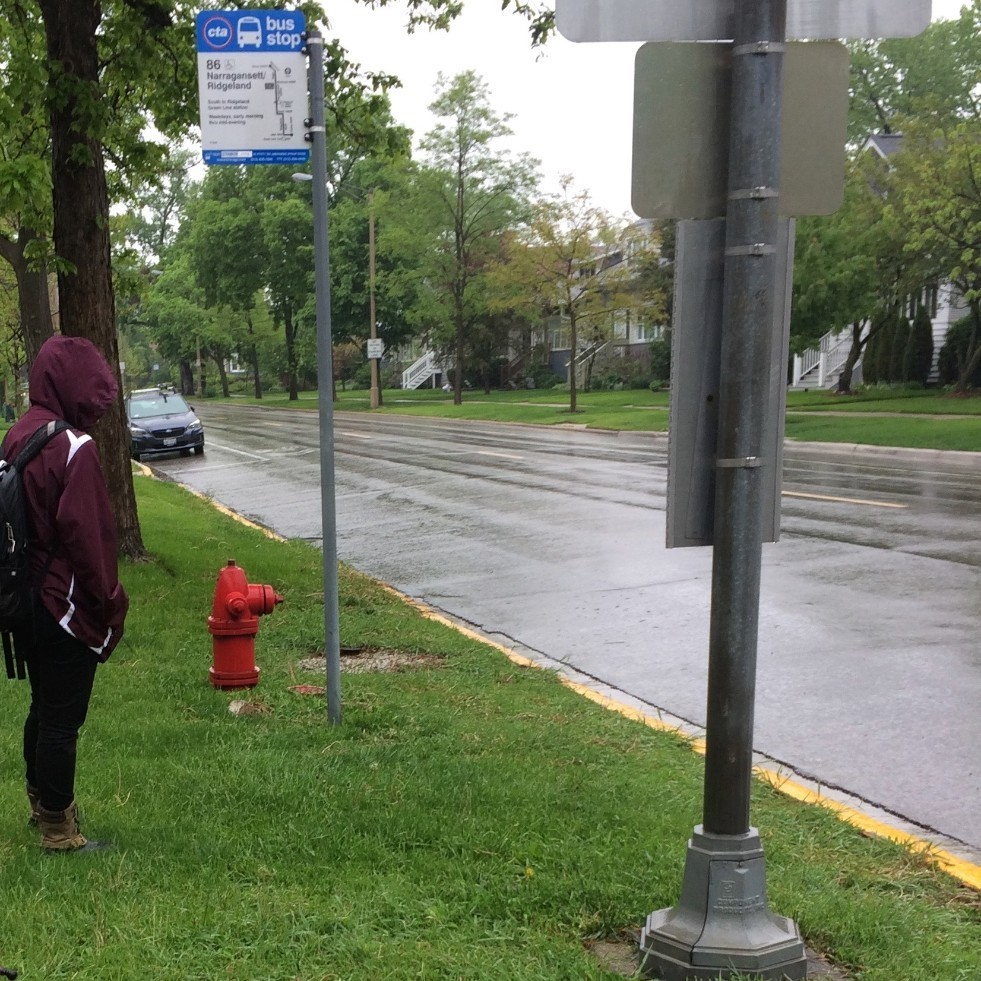 Add bus stop shelters along streets in Oak Park's residential areas to increase ridership