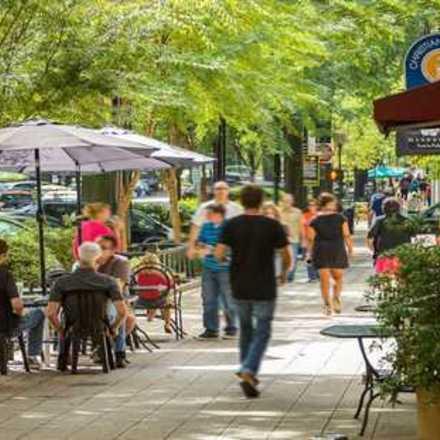 Large greenville sc main street sidewalk