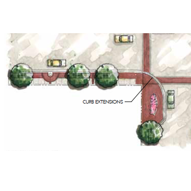 Install Curb Extensions at the Main/Crescent Intersection