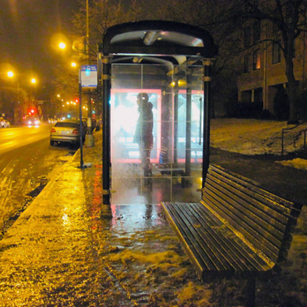 Large bus stop