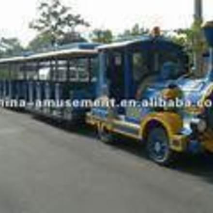 Large blue tram