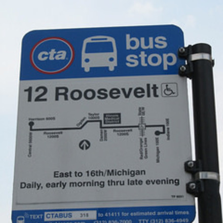 Large roosevelt bus stop