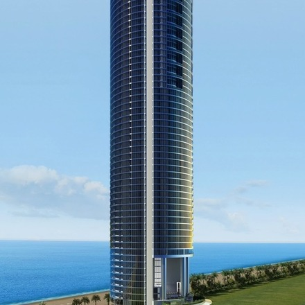 Large porsche design tower building