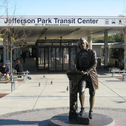 Large jefferson park bus hub