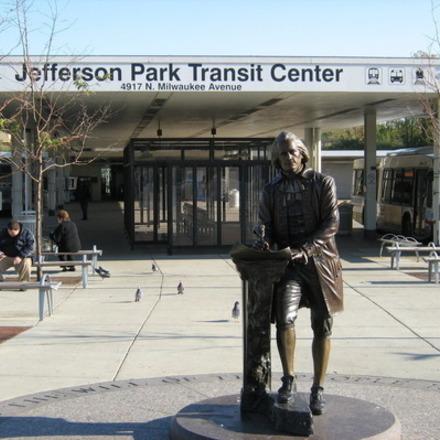 Large jefferson park bus hub