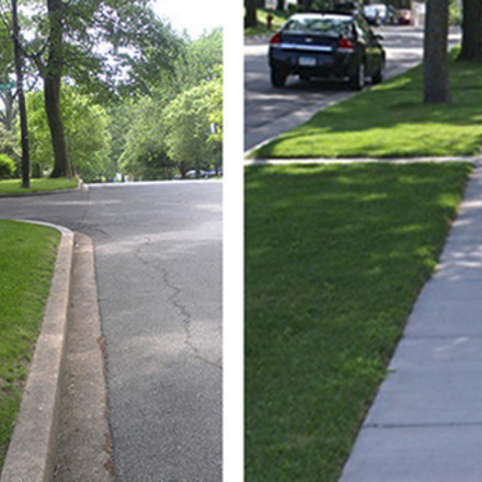 Large sidewalkvnosidewalk