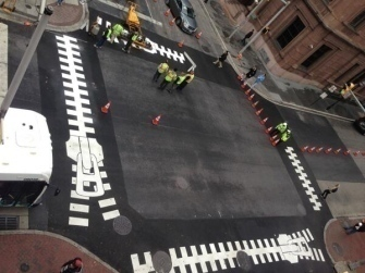 Street art for traffic calming