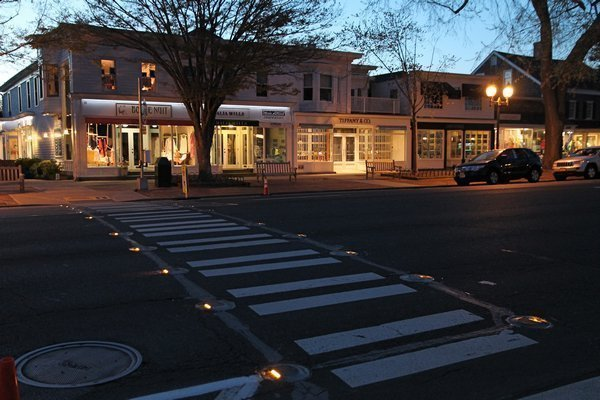 Lighted crosswalks on busy streets