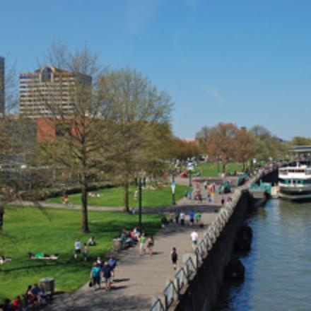 Large riverfront