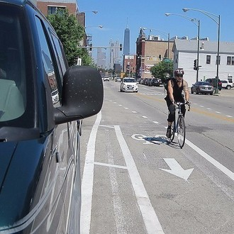 Door buffered bike lanes