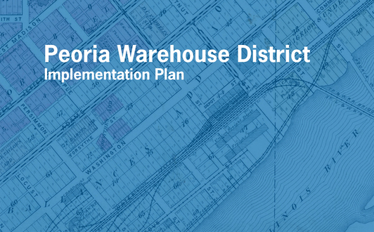 Big caw municipal il peoria warehouse district implementation plan project logo app