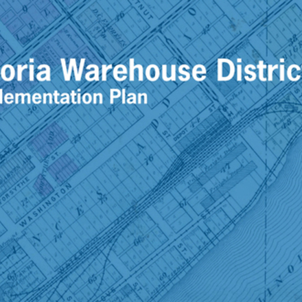 Large caw municipal il peoria warehouse district implementation plan project logo app