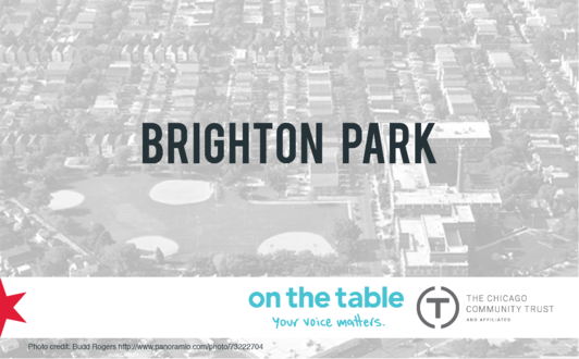 On the table in brighton park municipal for Table 52 parking
