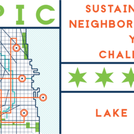 Large epic challenge logo app lake view